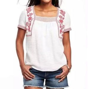 Old Navy • Embroidered Blouse